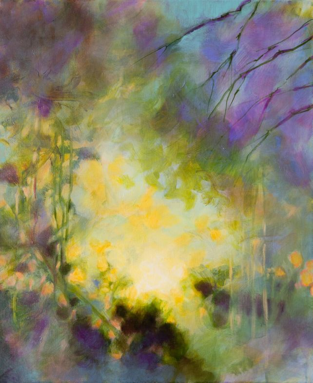 In the evening - Abstract garden -