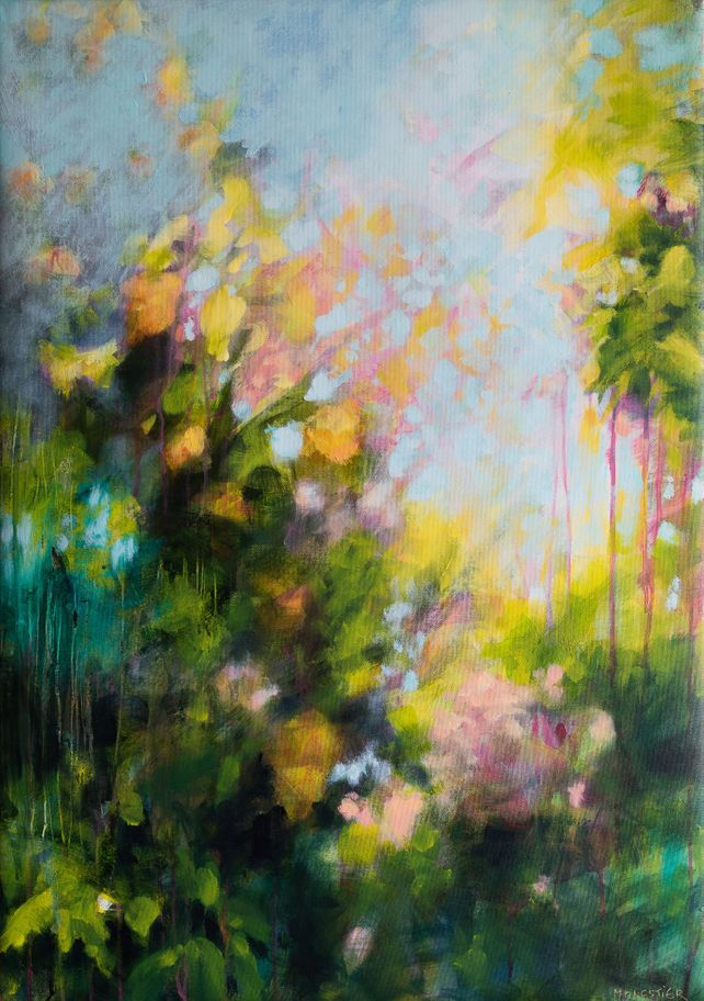 Garden in spring - floral abstract