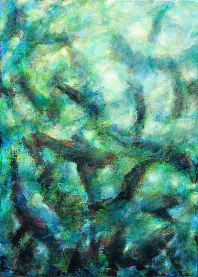 Underwater, abstract fishes