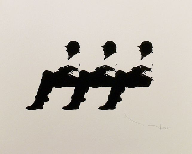Tehos - Three men on a Bench 15