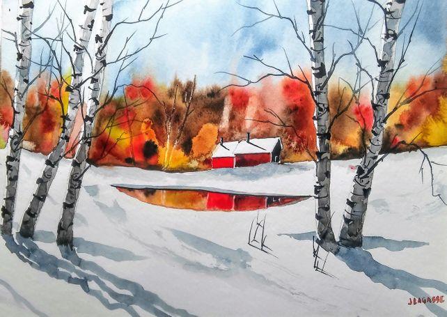 New England Birch Trees