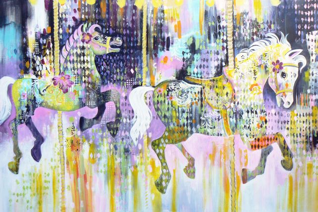 The gallopers (large expressive contemporary