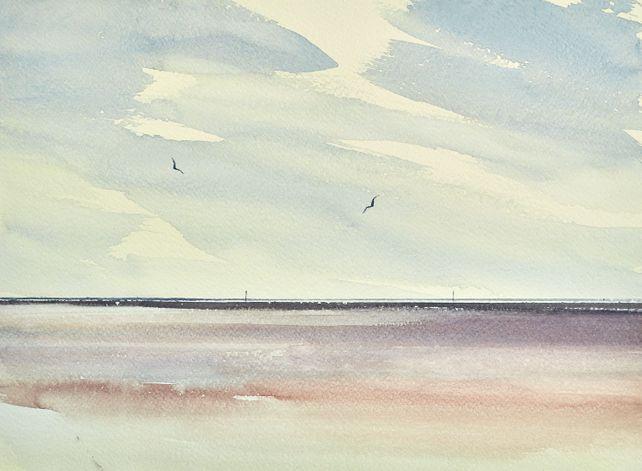 To the shoreline