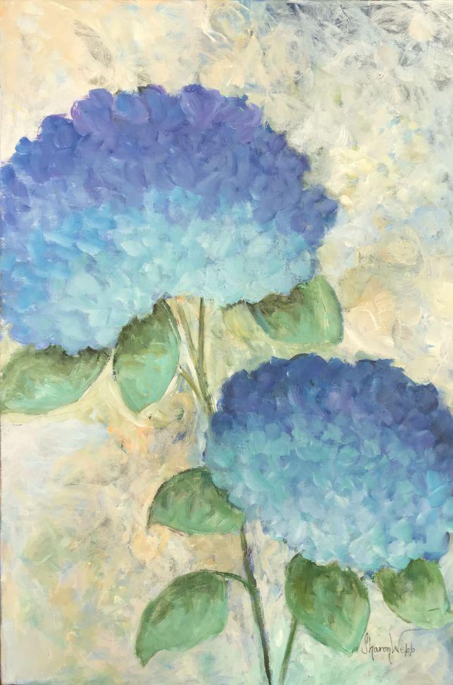 Two Blue Hydrangeas