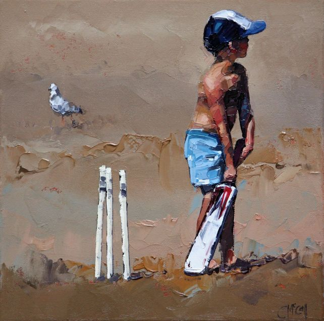 Beach Cricketer III - Limited Edition Giclee 3/100