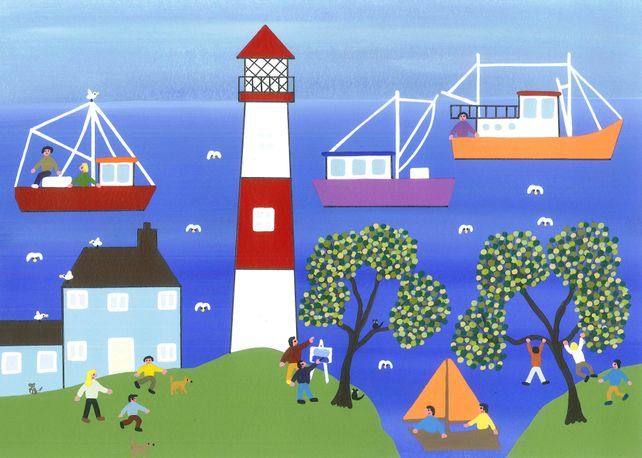 Painting by the lighthouse
