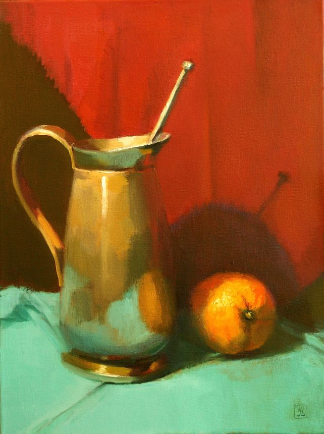 SILVER  PITCHER  AND  ORANGE
