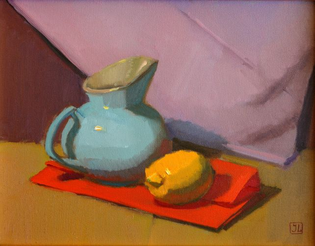 BLUE PITCHER WITH LEMON