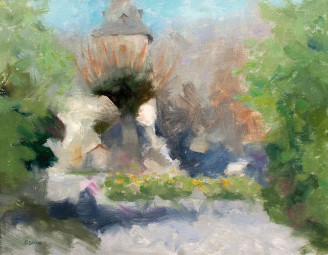 Rural Chapel in the Limousin, Abstract Realism