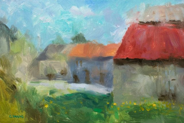 Impressionism Barns and Old Stone Buildings France