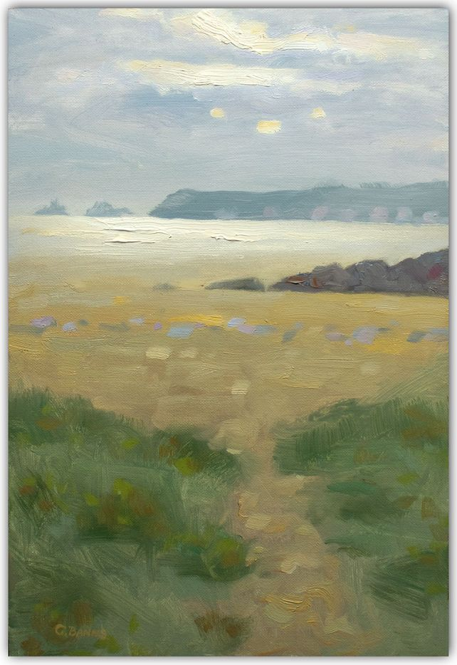 Evening on the Beach, the Brittany coast painting