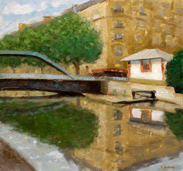 Canal Saint-Martin Paris City Reflections