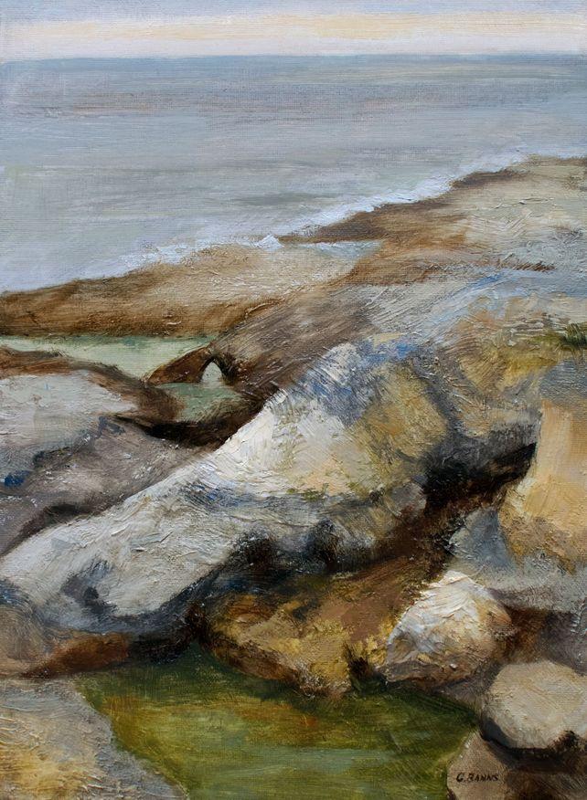Coastal rocks and ocean, Charente Maritime France