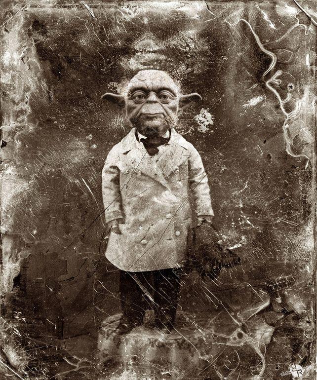 Yoda Star Wars Antique Photo