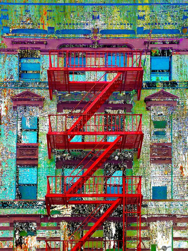 Red Fire Escape New York