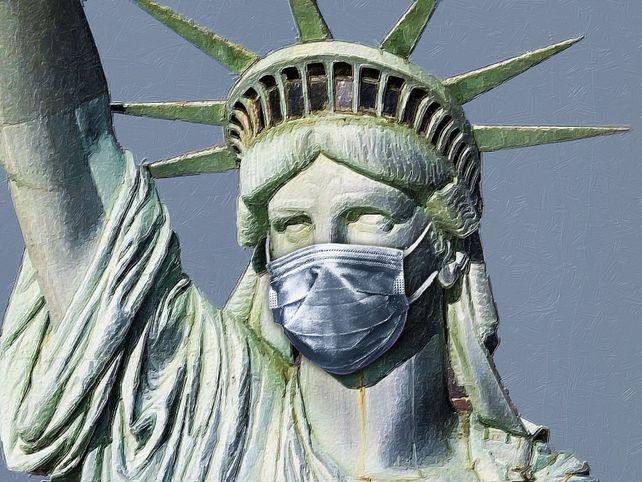 Statue Of Liberty Corona Virus Covid