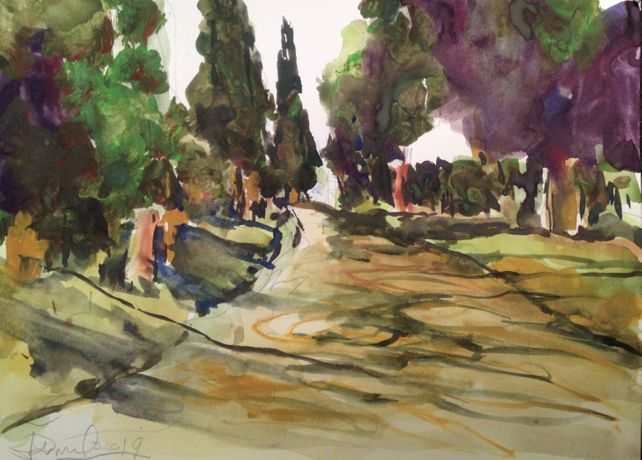 Appian Way Near Rome