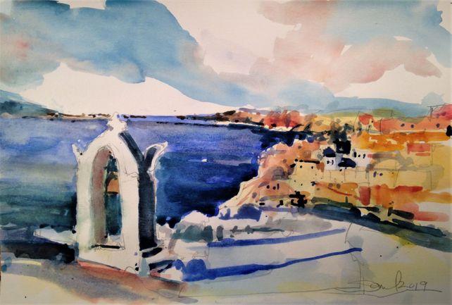 Santorini Greece Vista