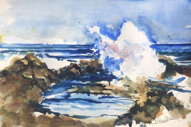 Sand, Surf, Rocks, Laguna