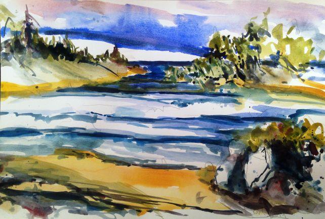 Coastal Waters Near Seattle