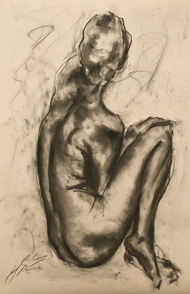 Reality - Large Charcoal Drawing