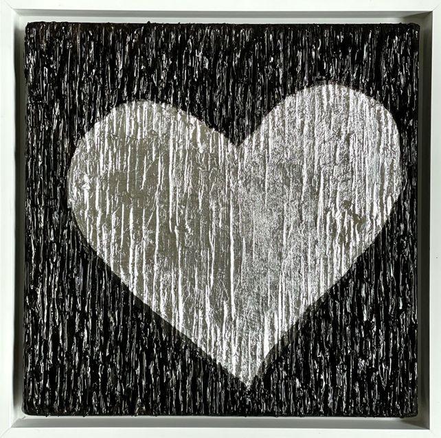BRIGHT LOVE II - BLACK & SILVER - WHITE FRAME