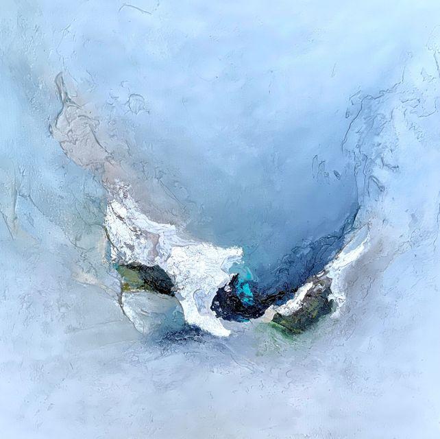 SIMPLY PLEASURE III - White Floating Frame