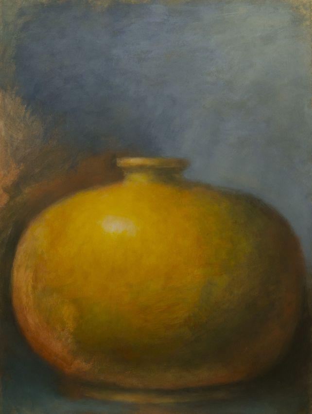 Yellow Amphora on Blue