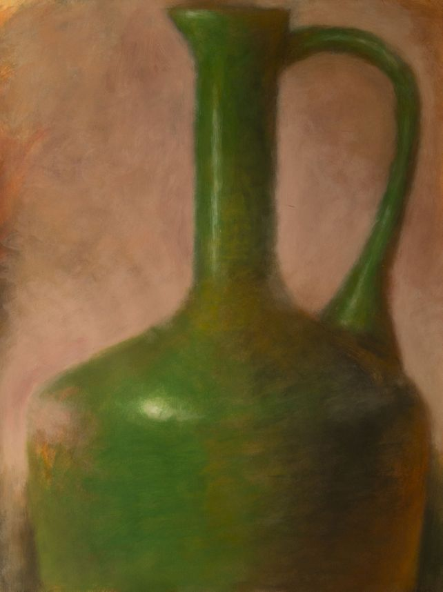Green Amphora on Pink