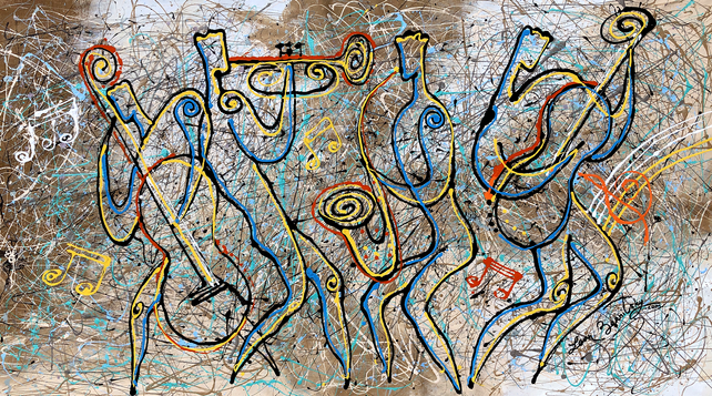 Jazz, Blues and Jackson Pollock Rhythm
