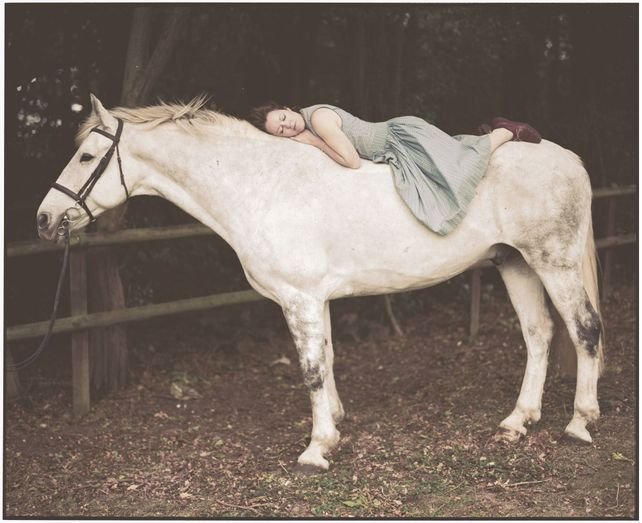 Emily and the White Horse (medium size)