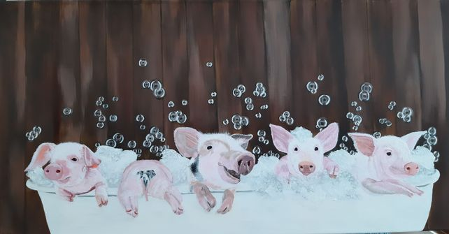 Pigs in the Tub!