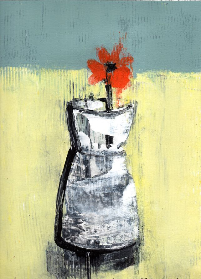 Little Flower - Still Life - original on paper