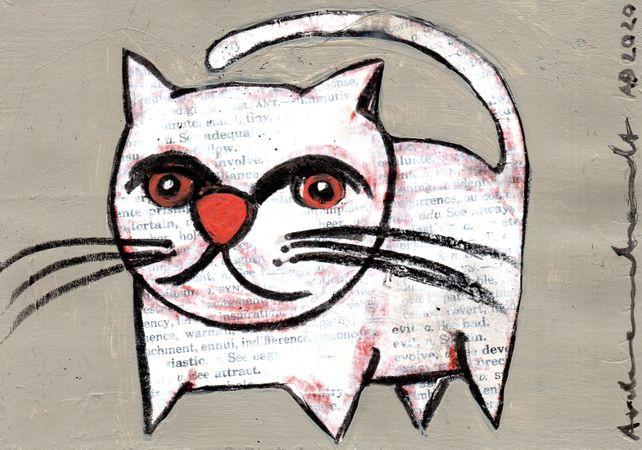 CAT - original collage