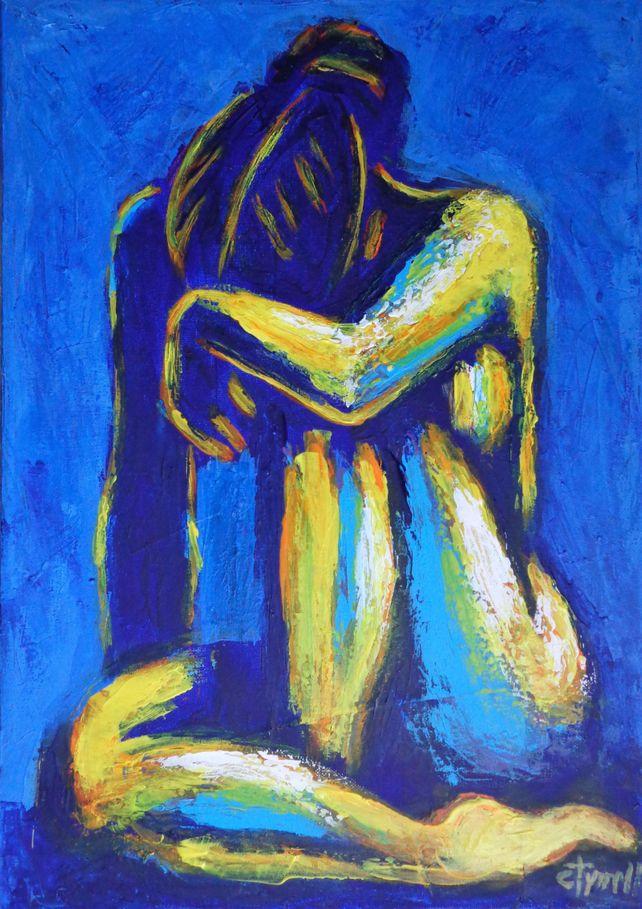Blue Mood 4 - Female Nude