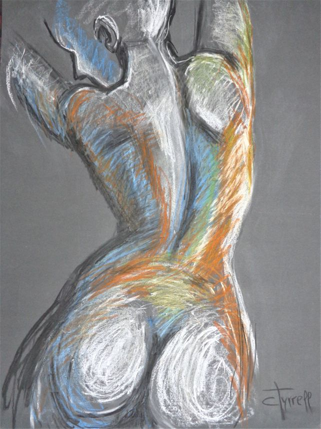 Rainbow Nude Stretching