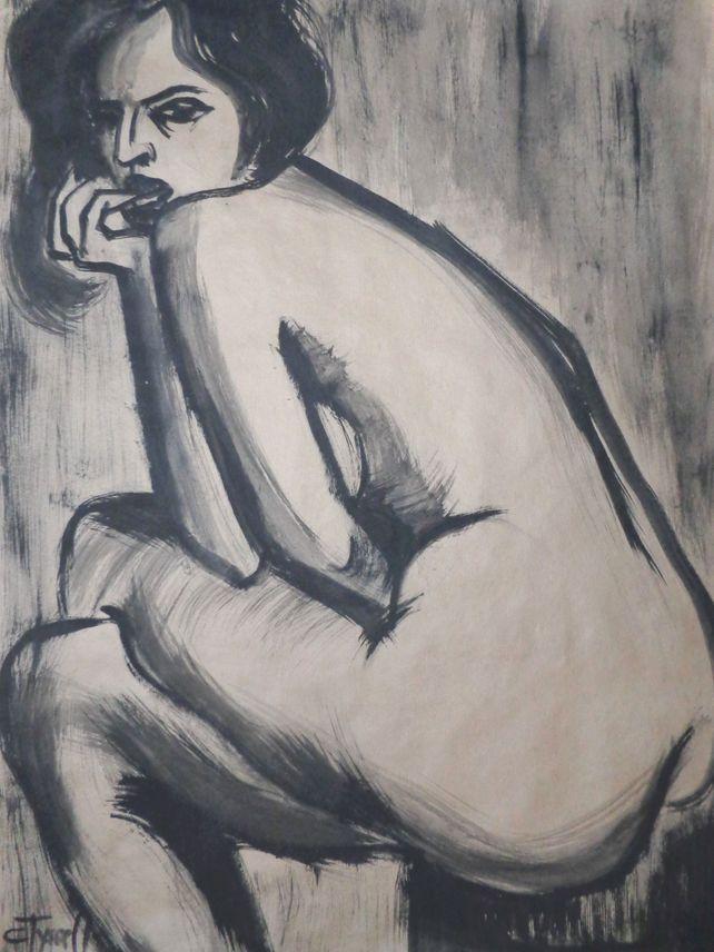 Pensive - Female Nude