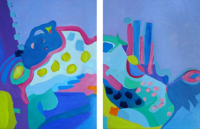 Lavender Play | Diptych