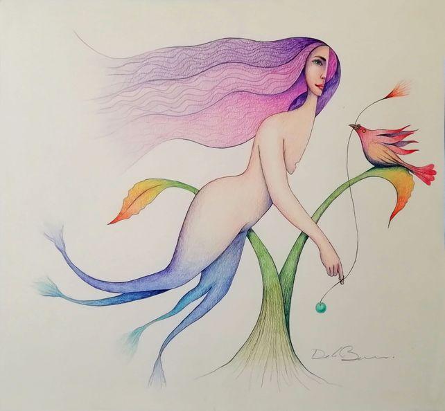 Mermaid and bird