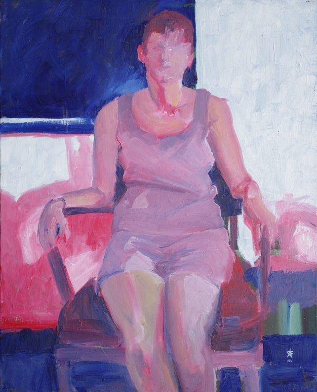 Maria seated