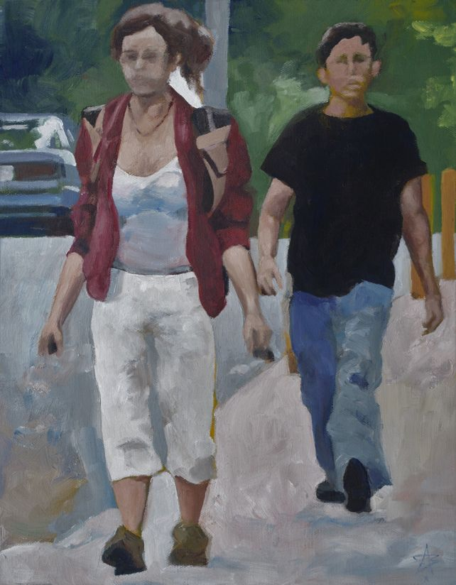 2 figures, Alderson Street