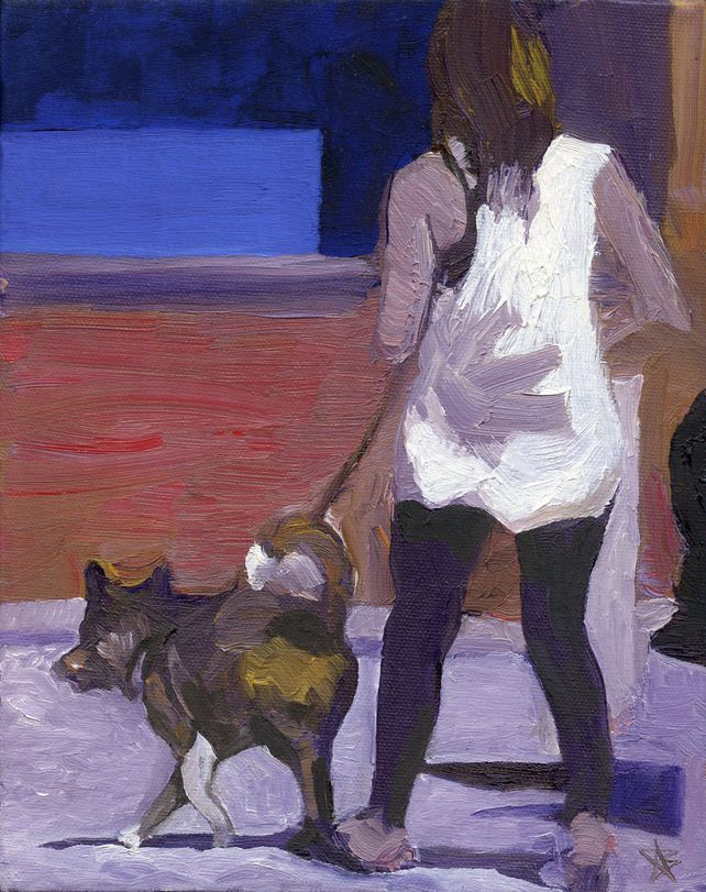 Woman with Yellow Dog