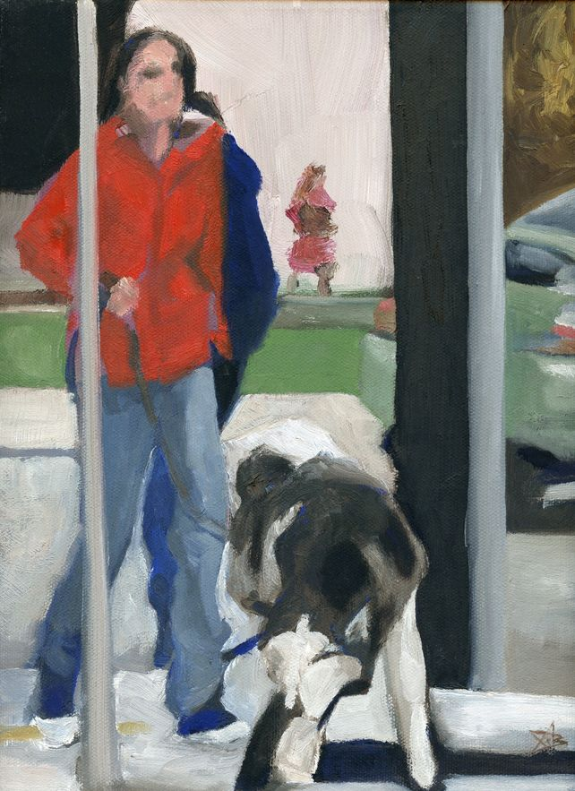 Red Coat and Dog