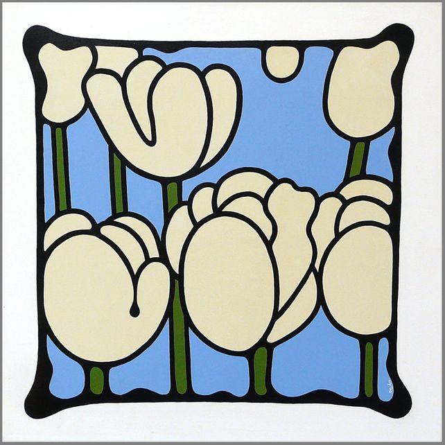Ivory Tulips