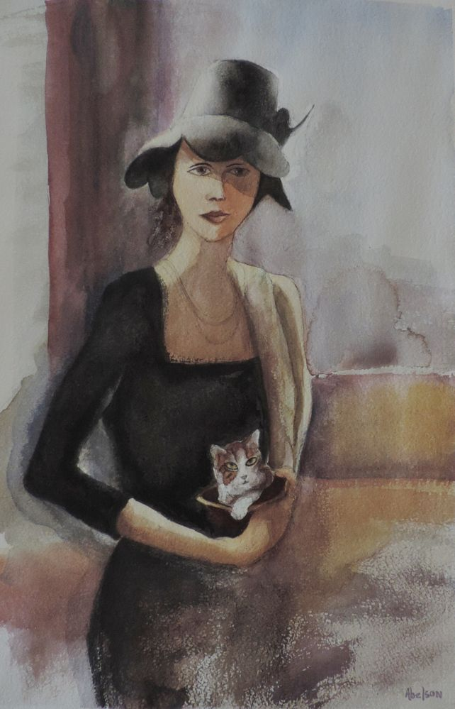 LADY AND KITTEN