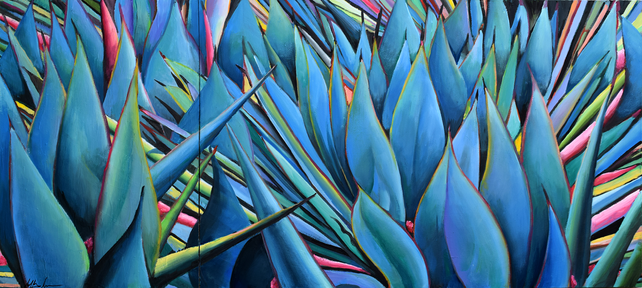 Agave Wall Diptych