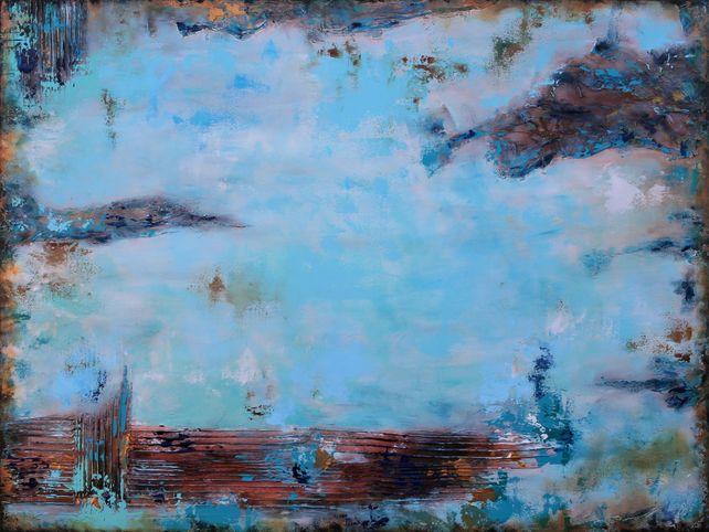 XXXL Abstract Santorini 122 X 91.5cm Textured Art
