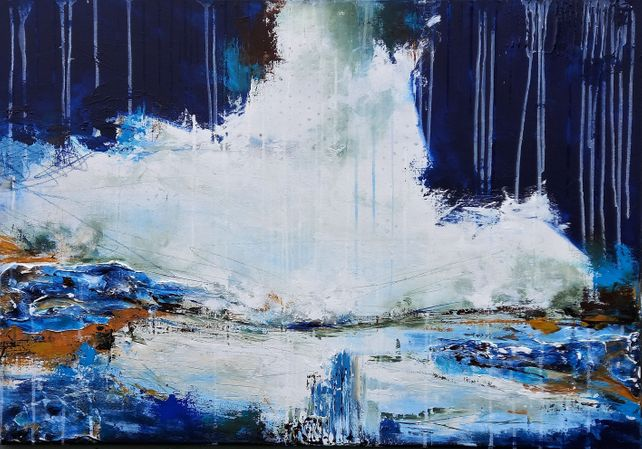 XXL Early Evening 100 x 70cm Textured Painting