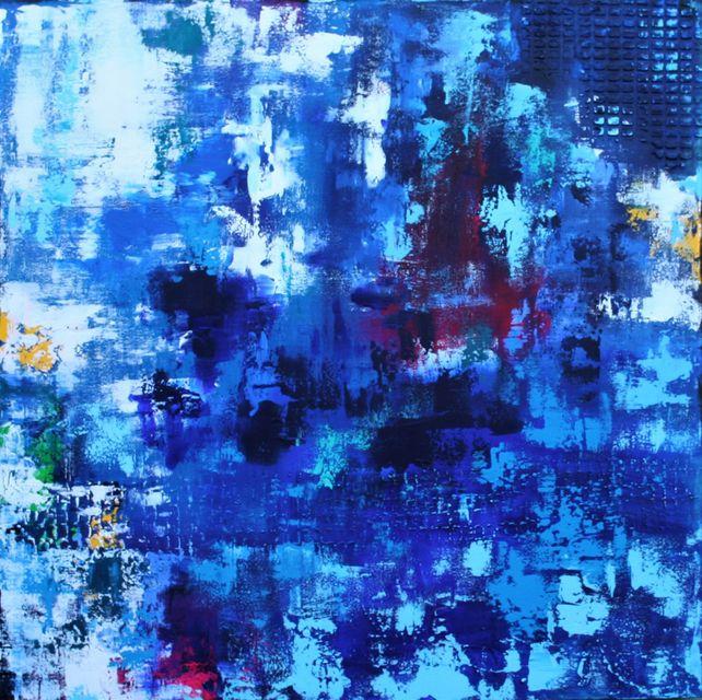 XL Free As A Bird 90 x 90 cm Textured Abstract