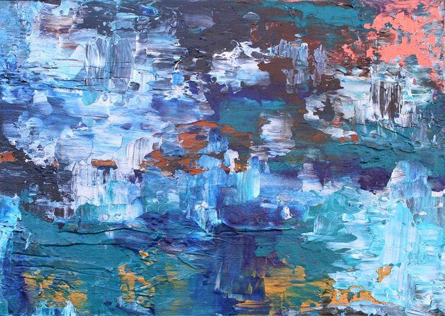 Abstract Crystal Cave 59 x 42 cm Textured Abstract